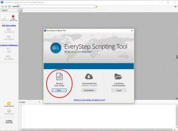 EveryStep Scripting Tool Screen